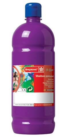bruynzeel-sakura 9512-153 Temperové plakátové barvy 1000ml připravené k použití a na většinu materiálů fialová