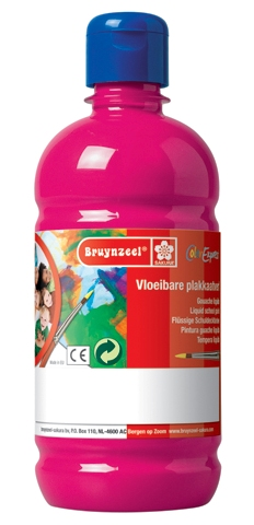 bruynzeel-sakura 9512-139 Temperové plakátové barvy 1000ml připravené k použití a na většinu materiálů magenta