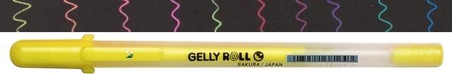 bruynzeel-sakura XPGB-403 Gelové pero fluo Gelly Roll Moonlight 0.5 mm - fluo žlutá