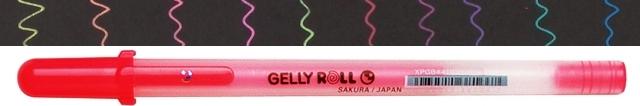 bruynzeel-sakura XPGB-418 Gelové pero fluo Gelly Roll Moonlight 0.5 mm - fluo rumělková