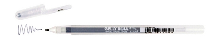 bruynzeel-sakura XPGB-744 Gelové pero třpytivé Gelly Roll Stardust 0.5 mm - stříbrná