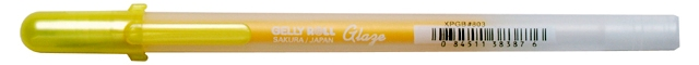 bruynzeel-sakura XPGB-803 Gelové pero 3D glazura Gelly Roll Glaze 0.8 mm - žlutá