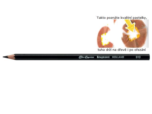 bruynzeel-sakura 2105/10 Extra silné šestihranné pastelky jednotlivě, tuha 5 mm - černá