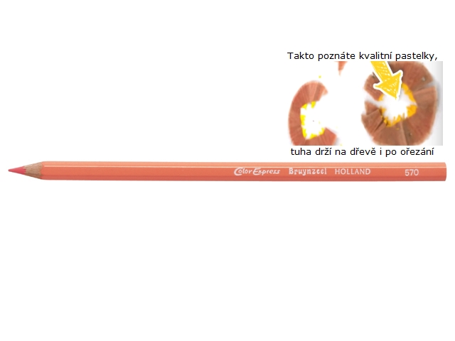 bruynzeel-sakura 2105/70 Extra silné šestihranné pastelky jednotlivě, tuha 5 mm - tělová