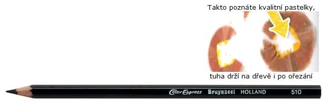 bruynzeel-sakura 2515/10 Šestihranné pastelky SuperColor jednotlivě, tuha 3.3 mm - Černá