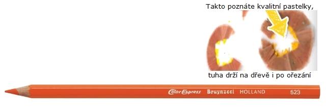 bruynzeel-sakura 2515/23 Šestihranné pastelky SuperColor jednotlivě, tuha 3.3 mm - Oranžová