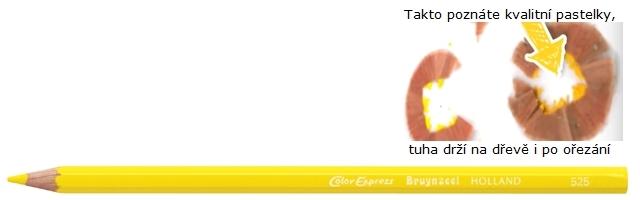bruynzeel-sakura 2515/25 Šestihranné pastelky SuperColor jednotlivě, tuha 3.3 mm - Citrónově Žlutá