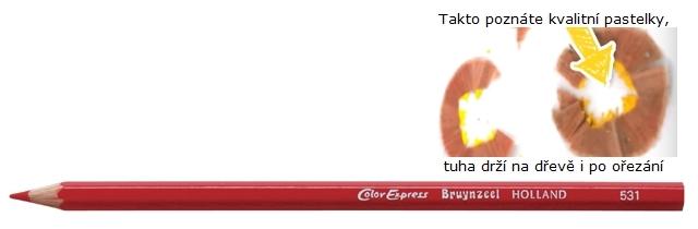 bruynzeel-sakura 2515/31 Šestihranné pastelky SuperColor jednotlivě, tuha 3.3 mm - Světle Červená