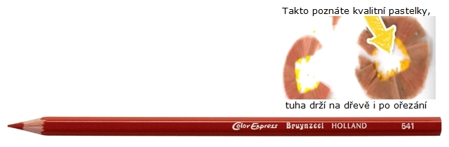 bruynzeel-sakura 2515/41 Šestihranné pastelky SuperColor jednotlivě, tuha 3.3 mm - Hnědá