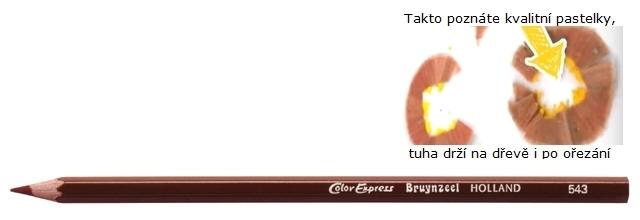 bruynzeel-sakura 2515/43 Šestihranné pastelky SuperColor jednotlivě, tuha 3.3 mm - Tmavě Hnědá