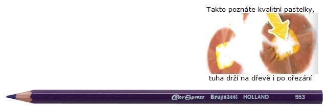 bruynzeel-sakura 2515/53 Šestihranné pastelky SuperColor jednotlivě, tuha 3.3 mm - Fialová