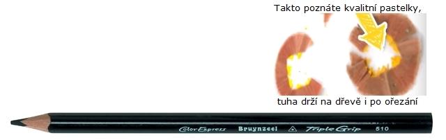 bruynzeel-sakura 3305/10 Trojhranné pastelky jednotlivě, černá