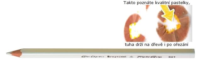 bruynzeel-sakura 3305/01 Trojhranné pastelky jednotlivě, bílá