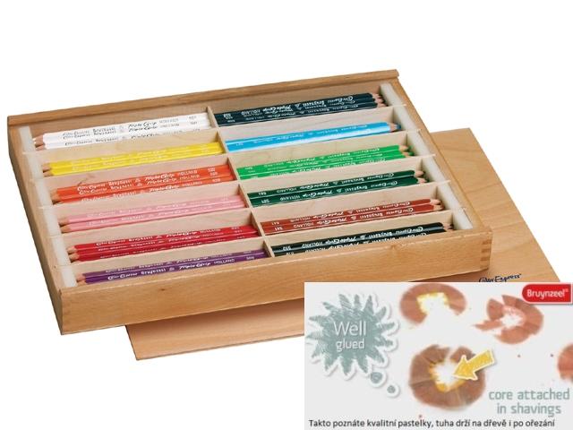 bruynzeel-sakura 3305/144 Trojhranné pastelky box 144 ks 12 barev á 12 ks + 2x ořezávátko