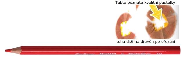 bruynzeel-sakura 3305/31 Trojhranné pastelky jednotlivě, červená