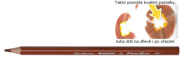 bruynzeel-sakura 3305/41 Trojhranné pastelky jednotlivě, hnědá