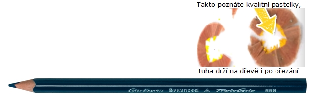 bruynzeel-sakura 3305/58 Trojhranné pastelky jednotlivě, tm. modrá