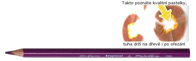 bruynzeel-sakura 3305/59 Trojhranné pastelky jednotlivě, fialová