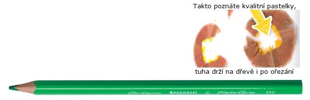 bruynzeel-sakura 3305/60 Trojhranné pastelky jednotlivě, sv. zelená