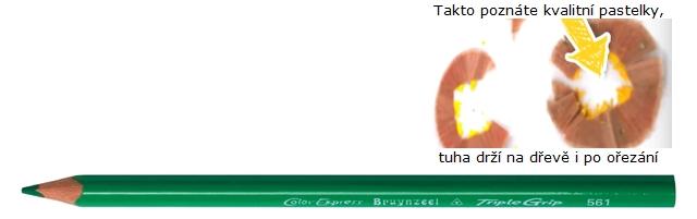 bruynzeel-sakura 3305/65 Trojhranné pastelky jednotlivě, tm. zelená