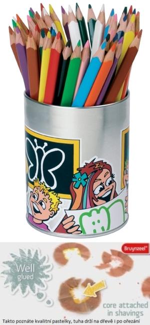 bruynzeel-sakura 3305/M50 Trojhranné pastelky plechová dóza 50 ks. 12 barev á 4 ks + 2x bílá a ořezávátko