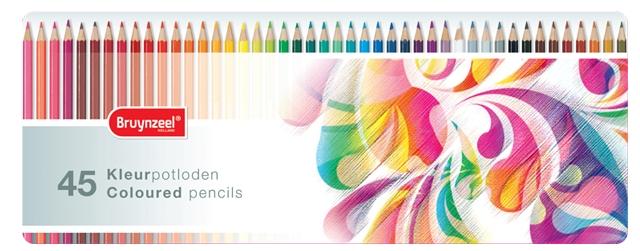 bruynzeel-sakura 5013M45 Pastelky bruynzeel v kovové etuji pro děti sada 45 barev - motiv Colorful