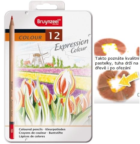bruynzeel-sakura 7705M12 Pastelky Expression Colour sada 12 barev v kovové etuji