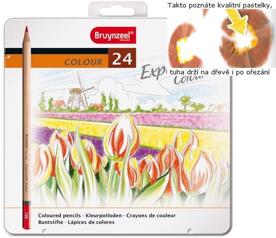 bruynzeel-sakura 7705M24 Pastelky Expression Colour sada 24 barev v kovové etuji