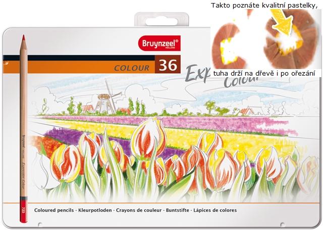 bruynzeel-sakura 7705M36 Pastelky Expression Colour sada 36 barev v kovové etuji
