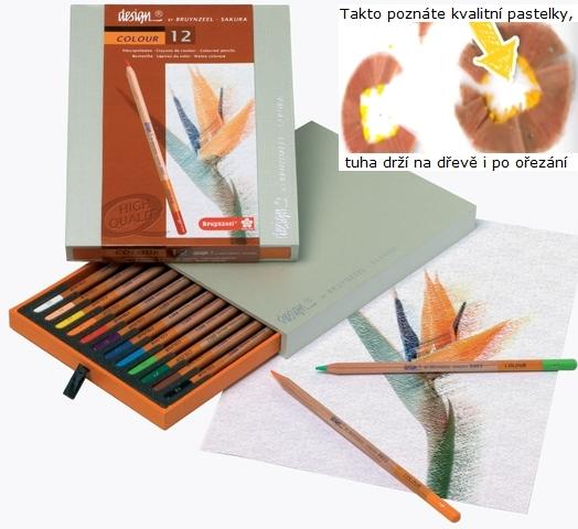 bruynzeel-sakura 8805H12 Pastelky bruyzeel Design Colour sada 12 barev v dřevěné krabici