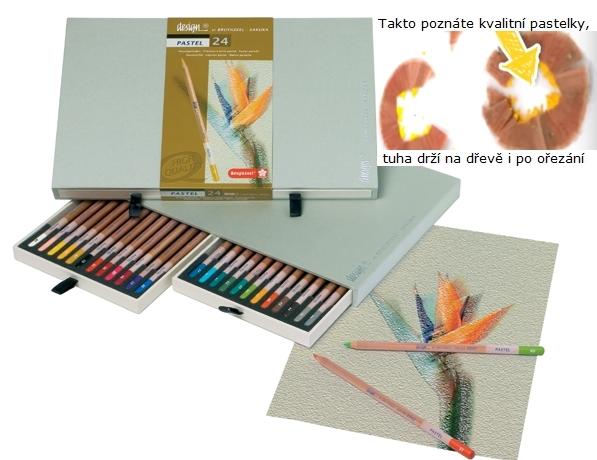 bruynzeel-sakura 8840H24 Pastelky suchý pastel Bruynzeel Design Pastel sada 24 barev v dřevěné krabici