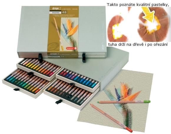 bruynzeel-sakura 8840H48 Pastelky suchý pastel Bruynzeel Design Pastel sada 48 barev v dřevěné krabicil