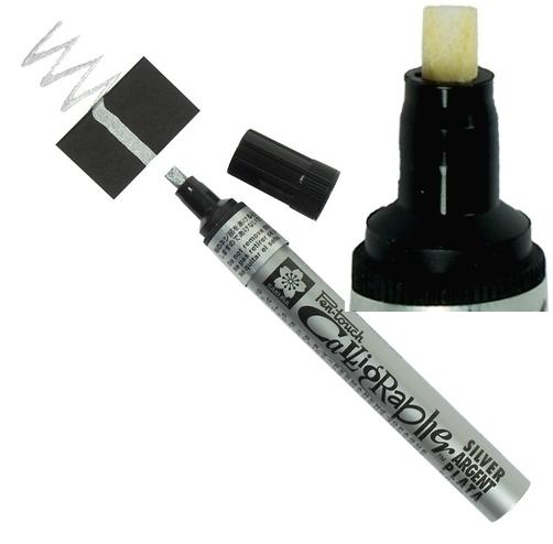 bruynzeel-sakura XPFK-C.53 Lakový tekutý permanentní Stříbrný popisovač kaligrafický Pen Touch - 5 mm
