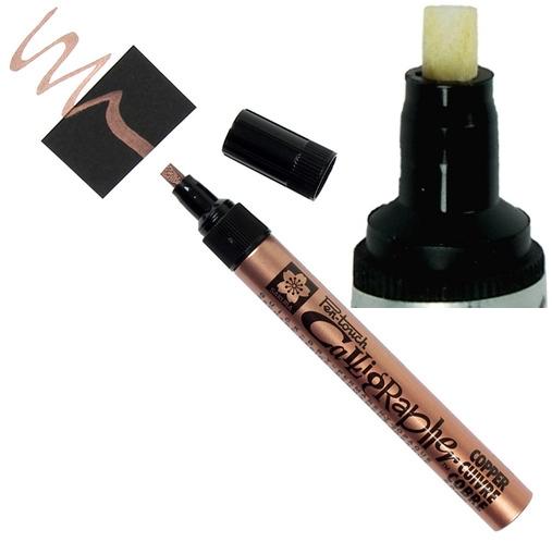 bruynzeel-sakura XPFK-C.54 Lakový tekutý permanentní Měděný popisovač kaligrafický Pen Touch - 5 mm