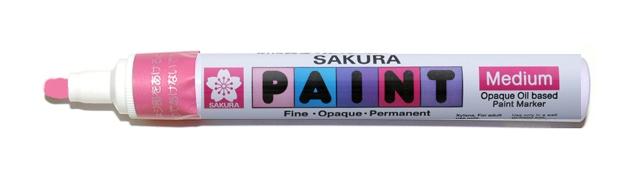 bruynzeel-sakura XPMK-B.320 Tekutý olejový popisovač na xylen bázi Paint Marker 2 mm - fluo růžová