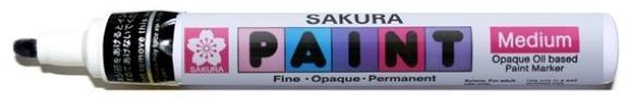 bruynzeel-sakura XPMK-B.49 Tekutý olejový popisovač na xylen bázi Paint Marker 2 mm - černá
