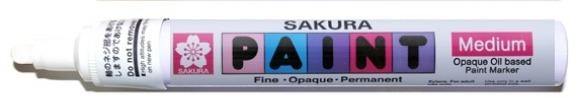 bruynzeel-sakura XPMK-B.50 Tekutý olejový popisovač na xylen bázi Paint Marker 2 mm - bílá