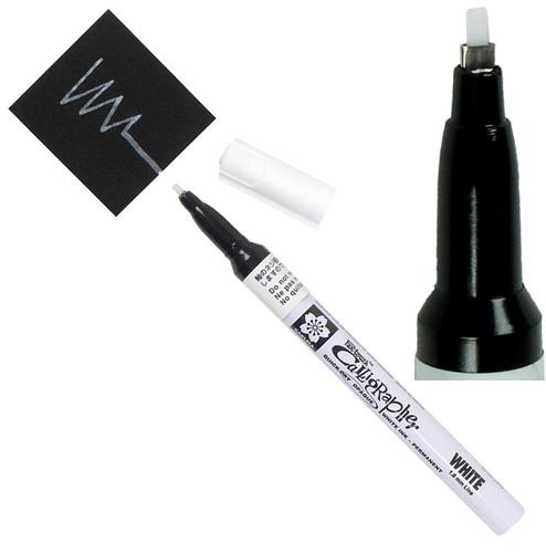 bruynzeel-sakura XPSK-C.50 Lakový tekutý permanentní Bílý popisovač kaligrafický Pen Touch - 1.8 mm