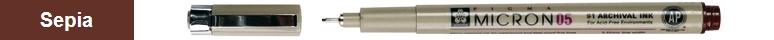 bruynzeel-sakura XSDK01/117 Technické pero Pigma Micron s archivním inkoustem Pigma 0.45 mm - tmavá sépie