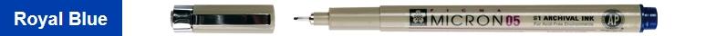bruynzeel-sakura XSDK05/138 Technické pero s archivním inkoustem Pigma Micron 0.45 mm - královská modrá