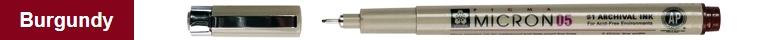 bruynzeel-sakura XSDK05/22 Technické pero Pigma Micron s archivním inkoustem Pigma 0.45 mm - vínová/burgundy