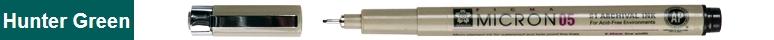 bruynzeel-sakura XSDK05/230 Technické pero s archivním inkoustem Pigma Micron 0.45 mm - lovecká zelená