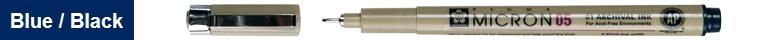 bruynzeel-sakura XSDK05/243 Technické pero Pigma Micron s archivním inkoustem Pigma 0.45 mm - modro černá