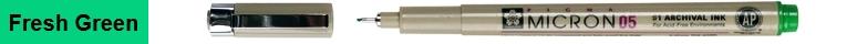 bruynzeel-sakura XSDK05/32 Technické pero Pigma Micron s archivním inkoustem Pigma 0.45 mm - fresh green