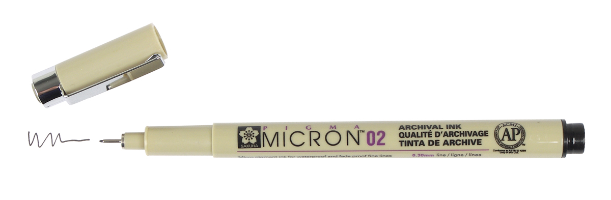 bruynzeel-sakura XSDK02/49 Technické pero Pigma Micron s archivním inkoustem Pigma 0.3 mm - černá