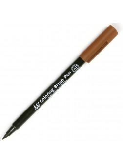Akvarelové štětcové pero Koi® - hnědá