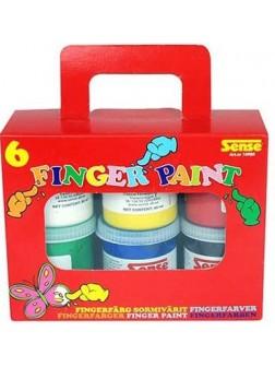 Prstové barvy 6 x 80 ml