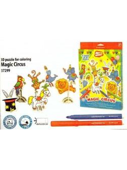 Omalovánky 3D puzzle - cirkus