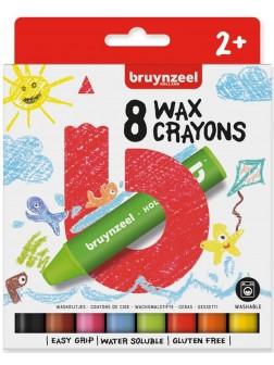 bruynzeel® Silné voskové tužky +2 - sada 8 ks.
