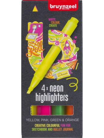Neonové Zvýrazňovače - sada 4 barvy